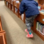 JS hunting for eggs at the library
